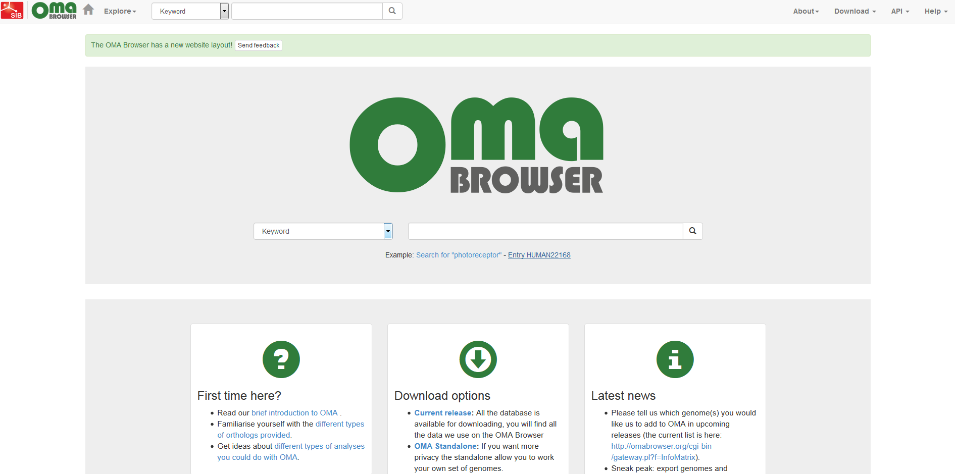 Redesign OMA Browser