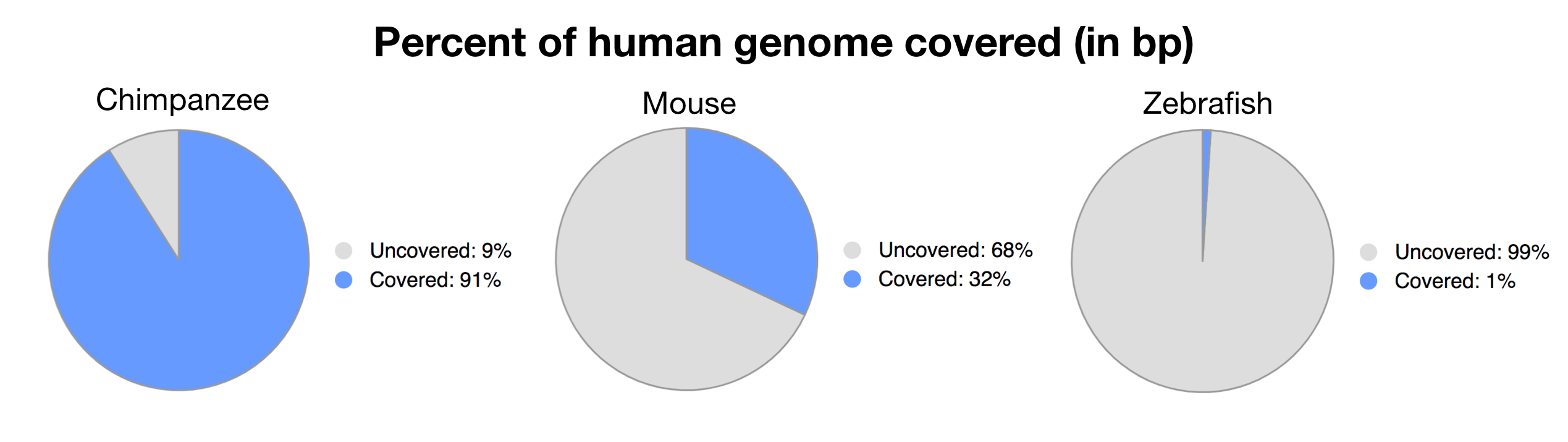 Ensembl Whole Genome Comparisons
